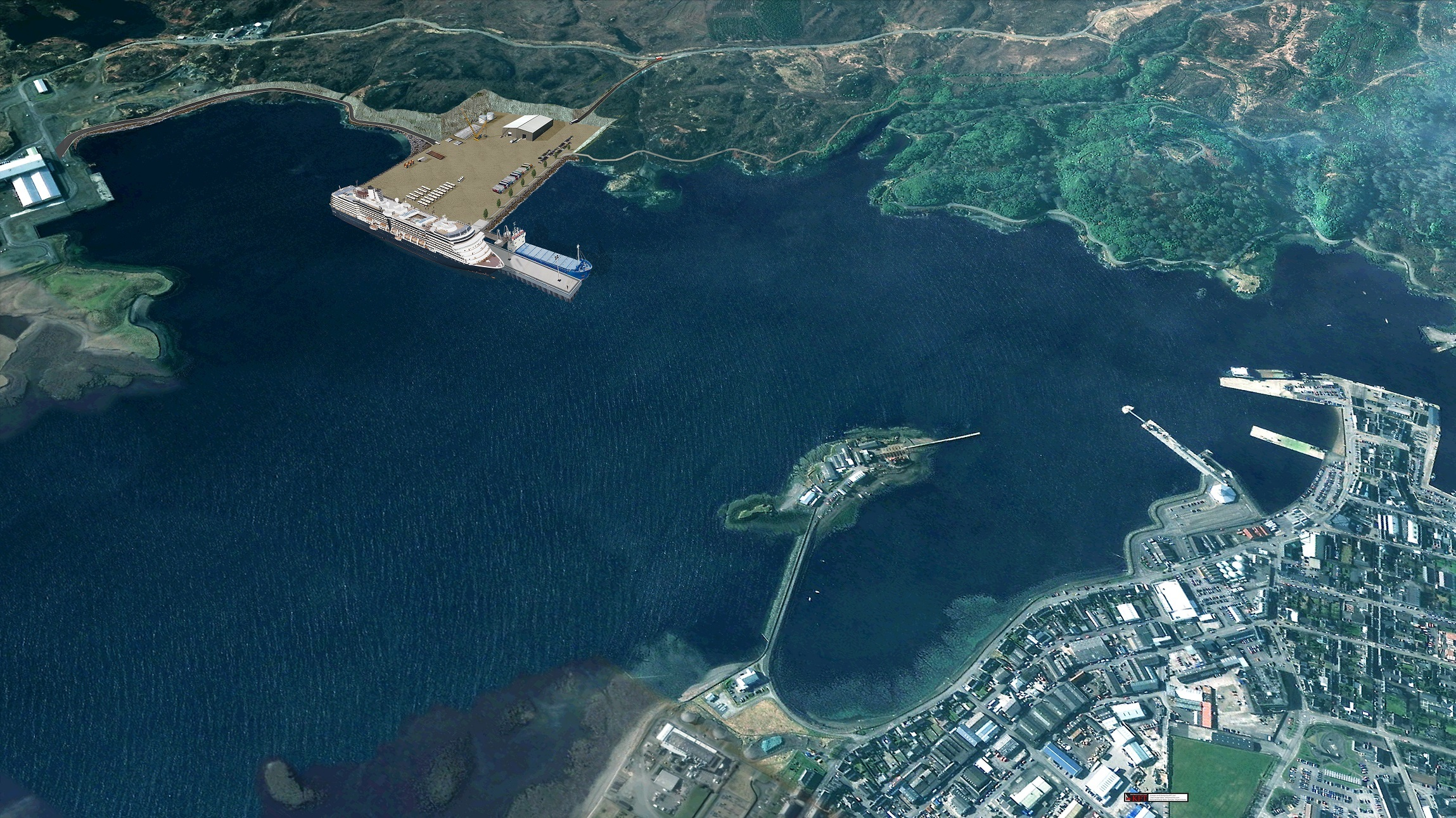 A visualisation of the proposals for Stornaway Port