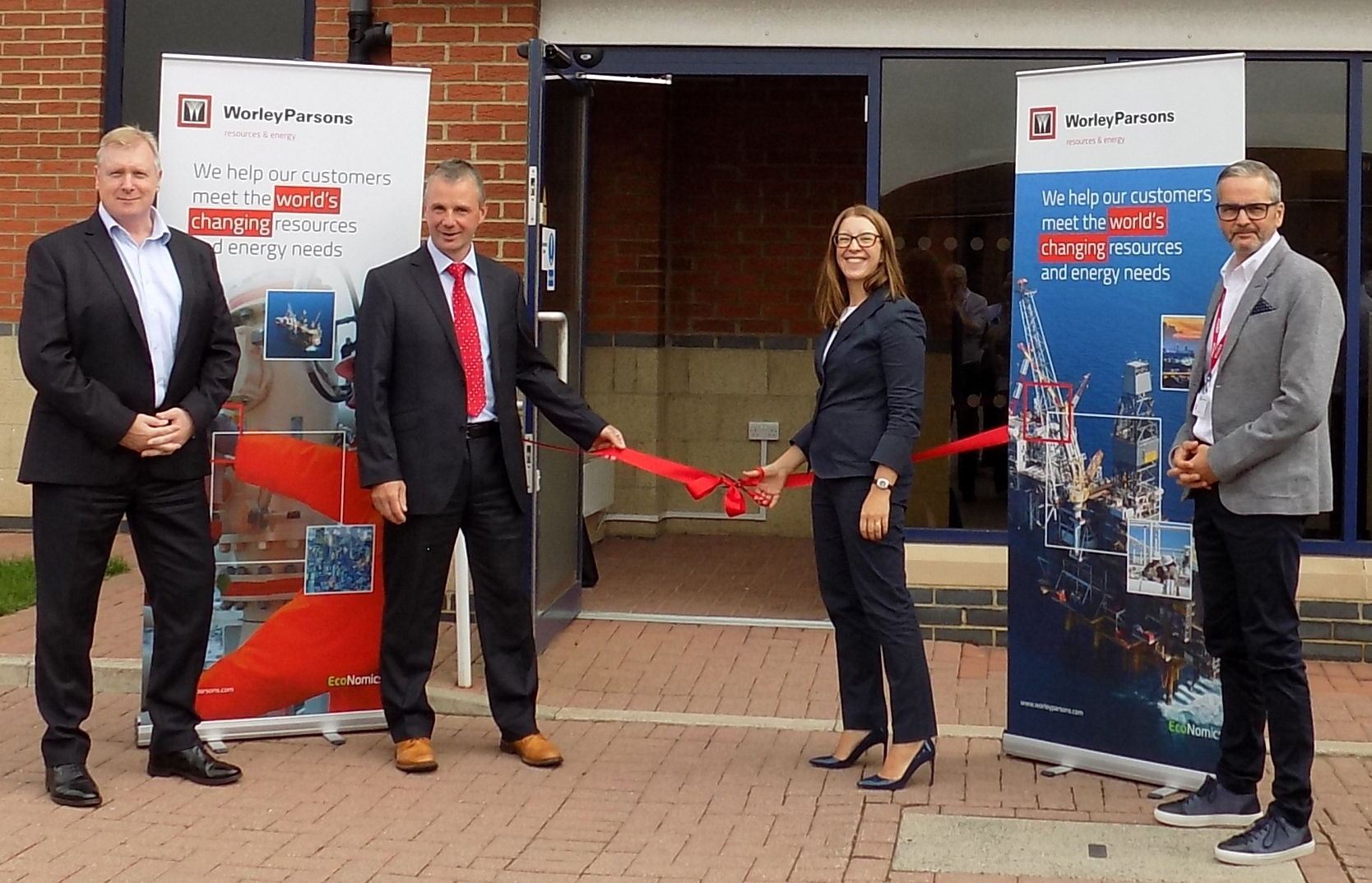 Graham Robertson and Russell Stevenon from WorleyParsons with Tamsin Lishman and Mark Fotheringham from Spirit Energy.