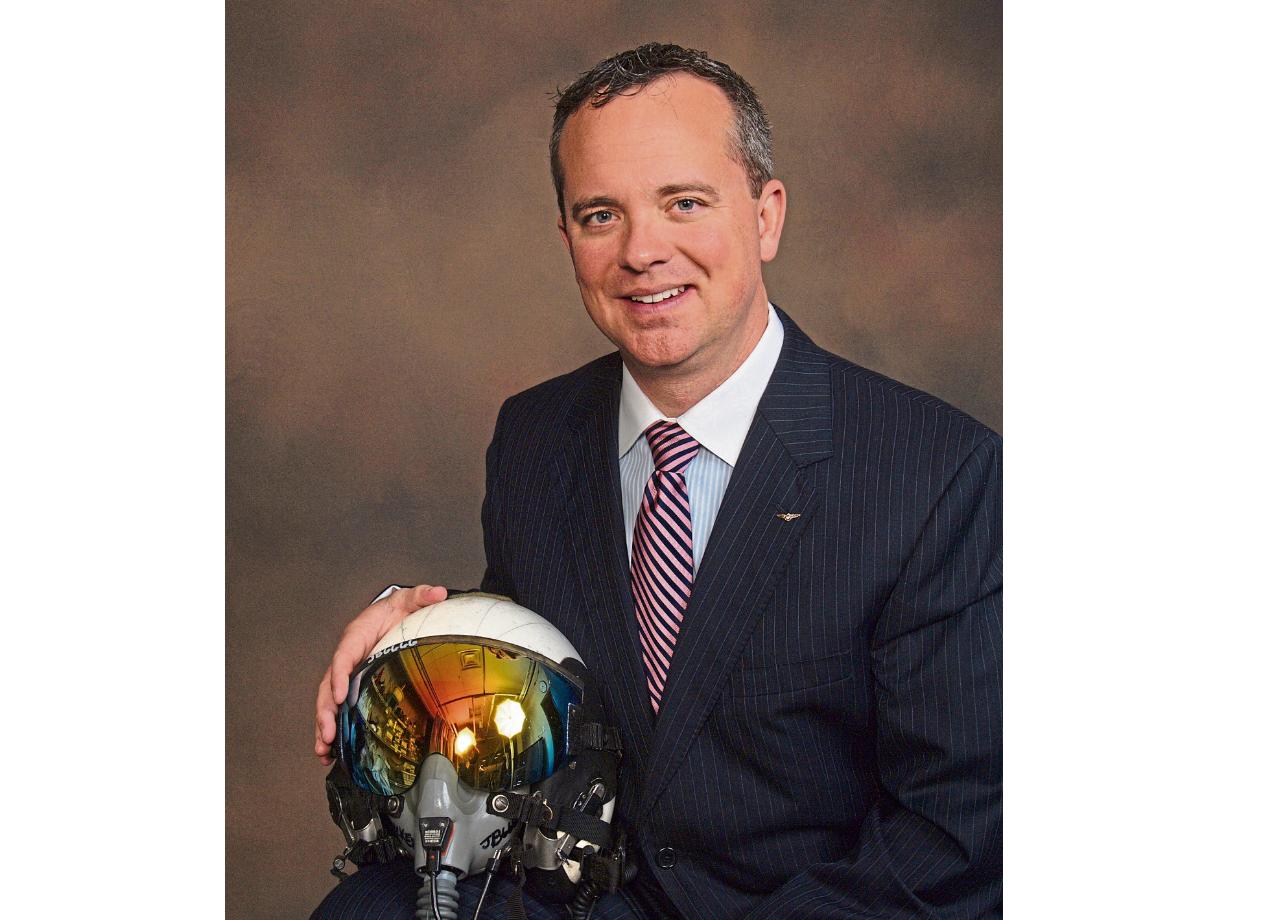 US Navy elite fighter pilot Jack Becker