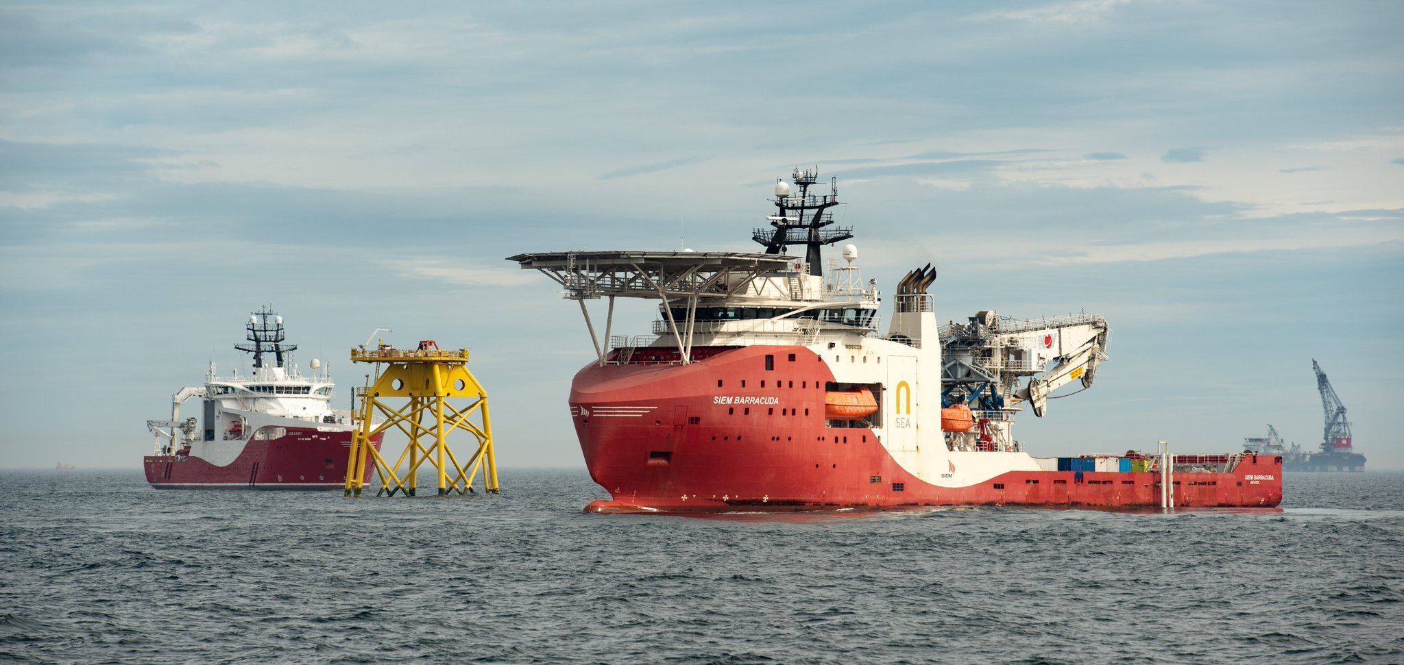 Cable installation is now complete for the 84-turbine windfarm