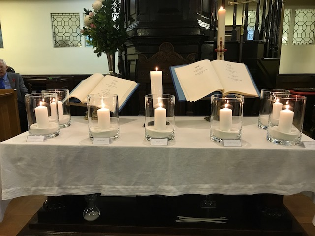 The chaplaincy's book of remembrance at St Nicholas Kirk