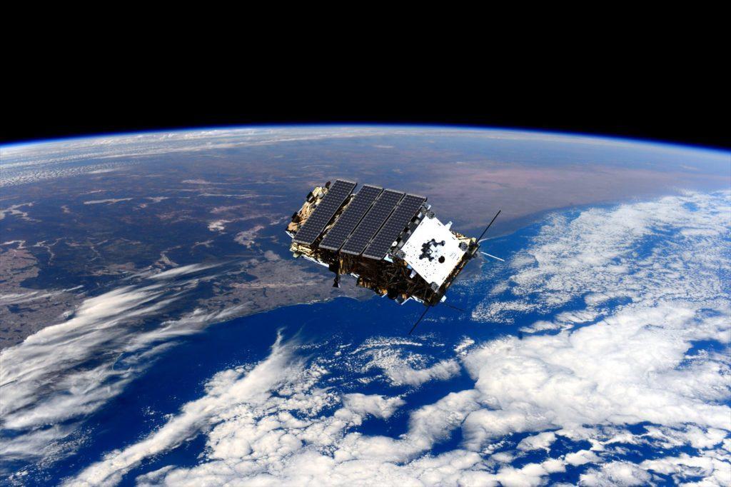 Computer generated image of NovaSAR-1 in orbit. Credit: SSTL