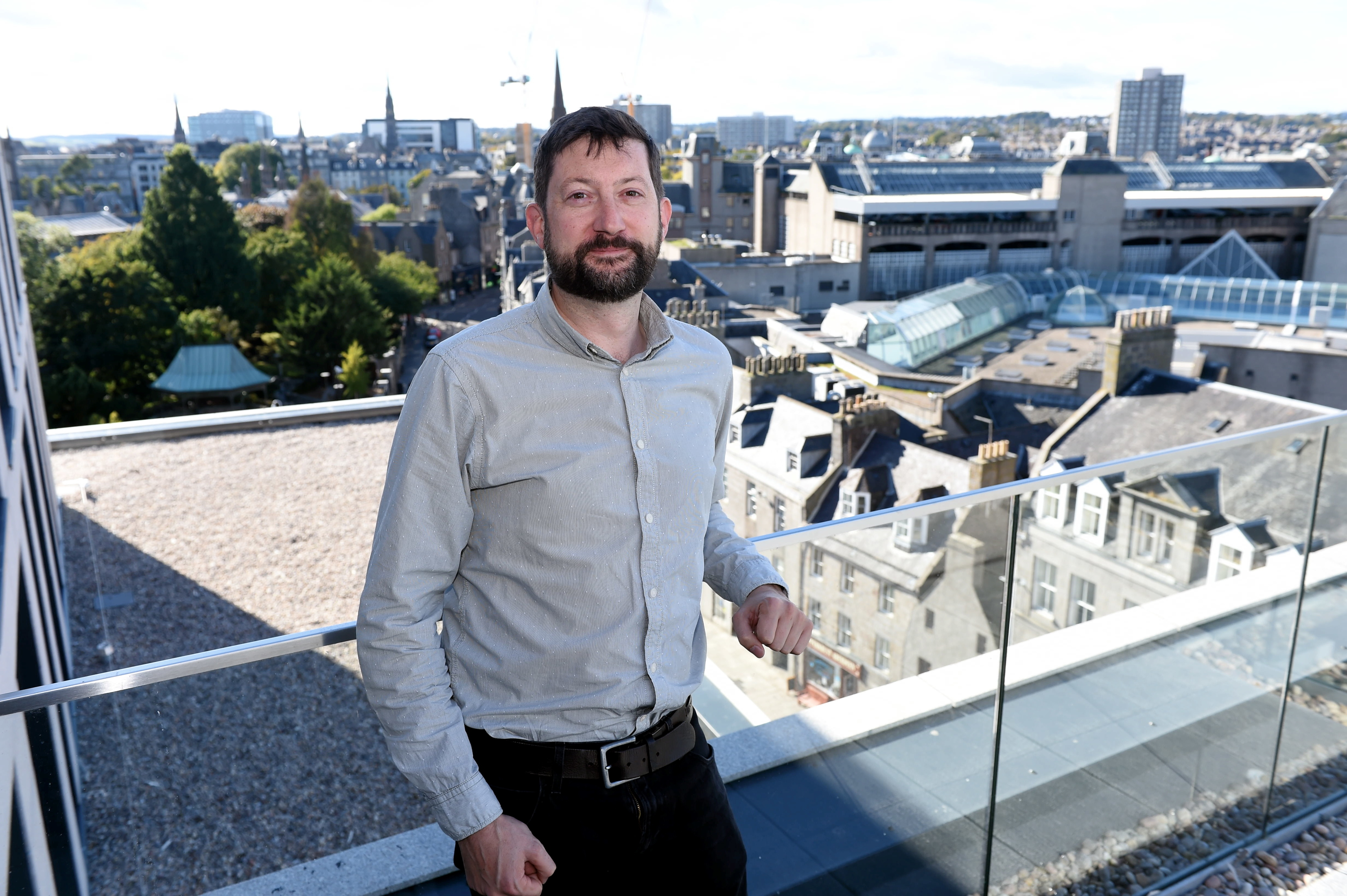 Marischal Square. Pictured is Jamie Grant. 24/09/18 Picture by HEATHER FOWLIE