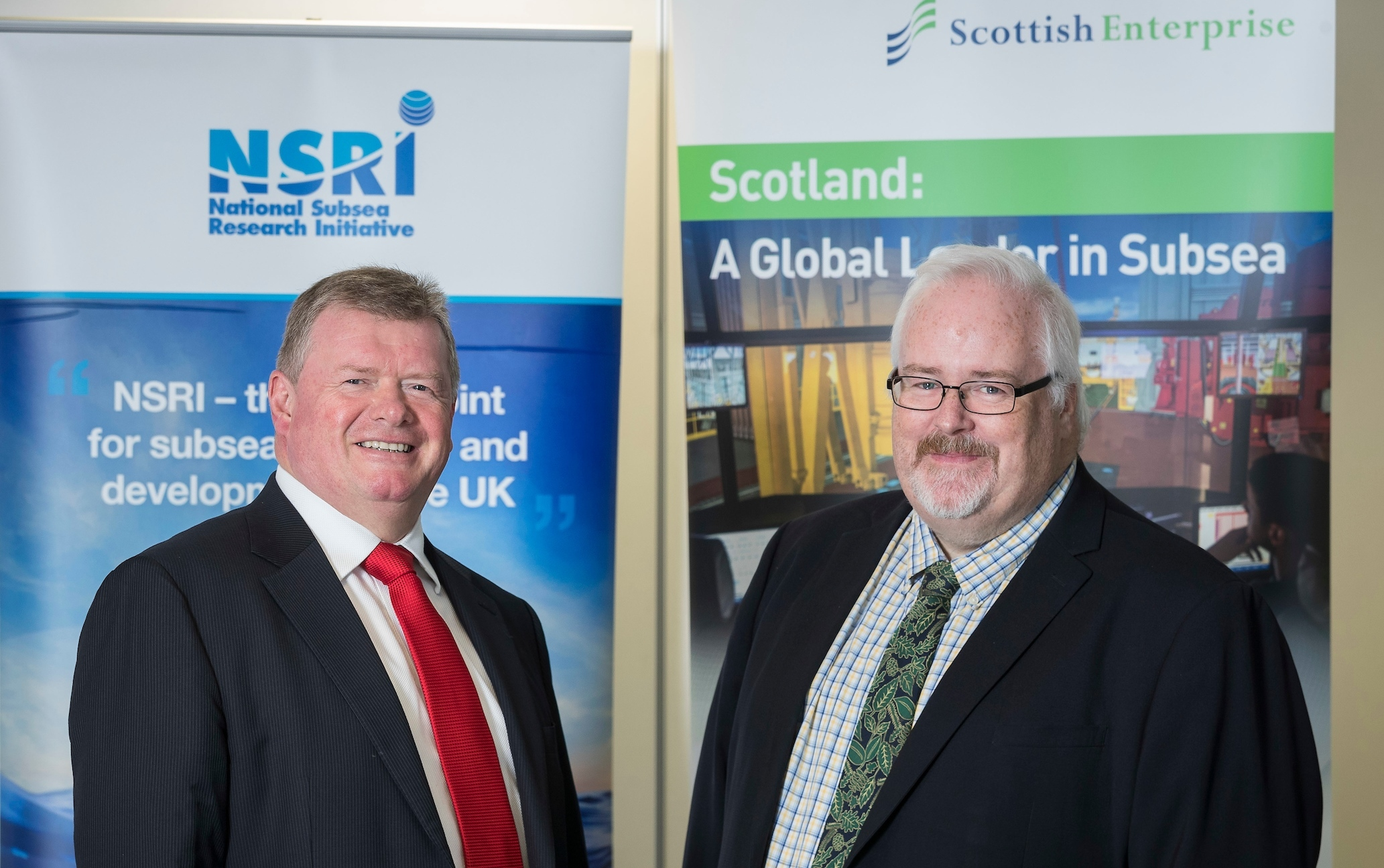 Tony Laing, NSRI director of research and market acceleration and Andy McDonald, sector director, energy and low carbon technologies at Scottish Enterprise.