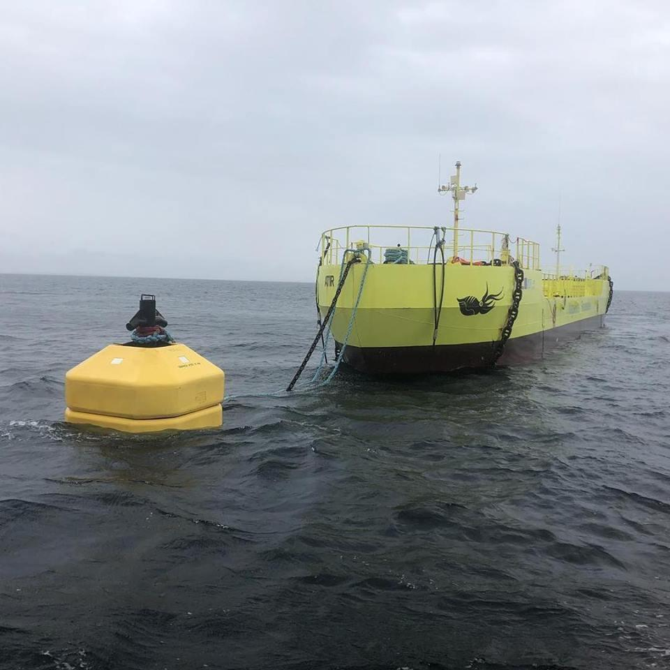 Magallanes Renovables' Atir tidal device off Orkney