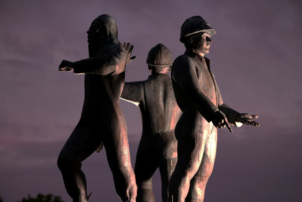 The Piper Alpha Memorial at Hazlehead Park, Aberdeen.