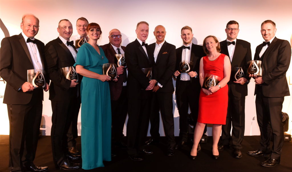The DC Thomson Gold Awards at Marcliffe at Pitfodells Hotel, Aberdeen. In the picture are all the winners on the night.   Picture by Jim Irvine  5-9-18