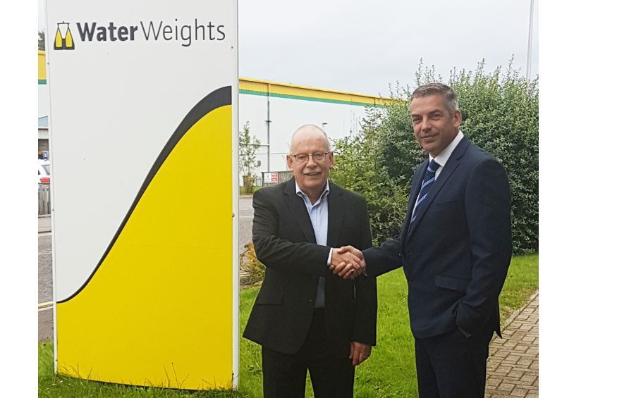 Alan Milne, managing director, Water Weights (left) and Graham Brading group director - Buoyancy & Ballast at Unique Group