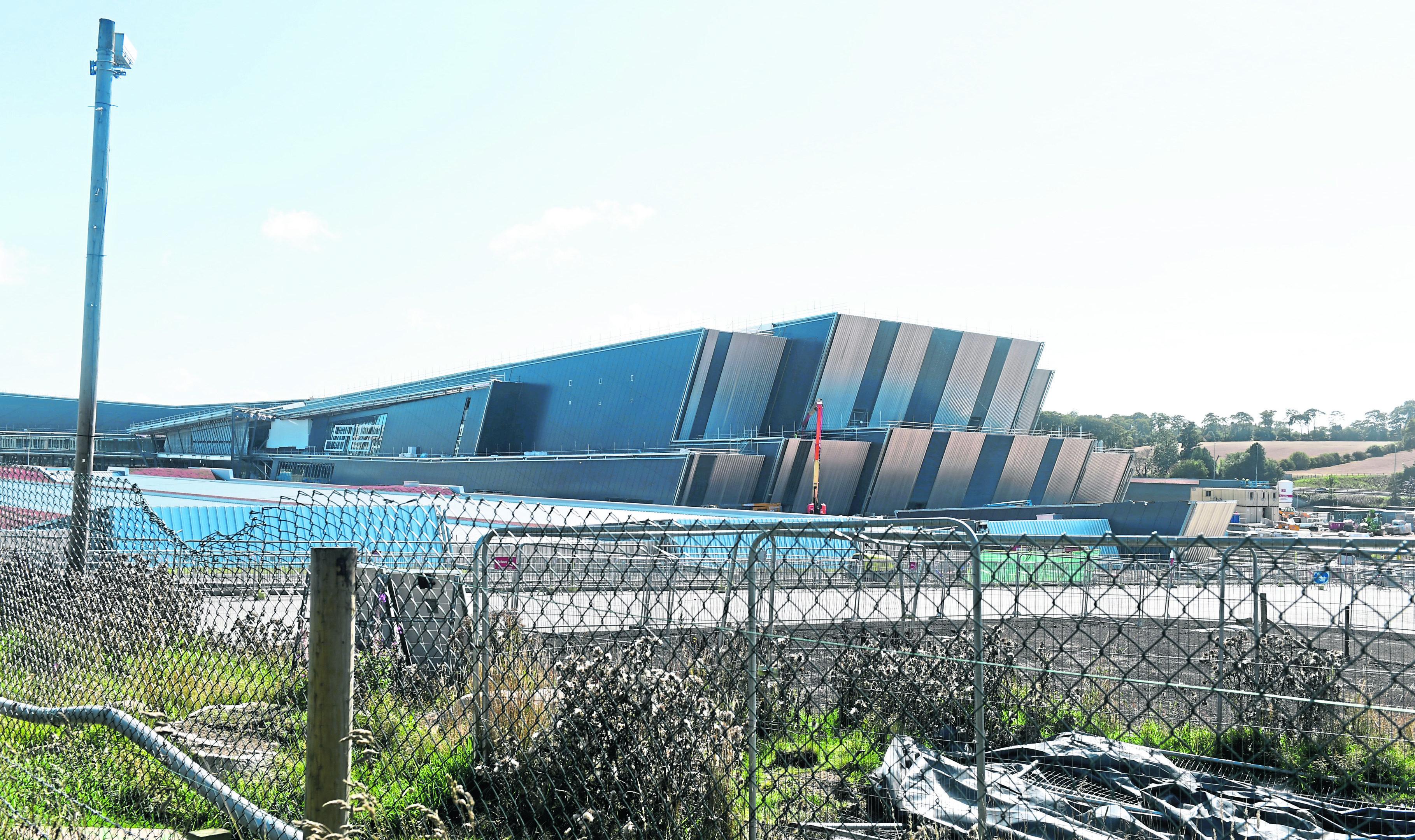 Locator of the AECC at Bucksburn. Pic by Chris Sumner Taken 31/8/18