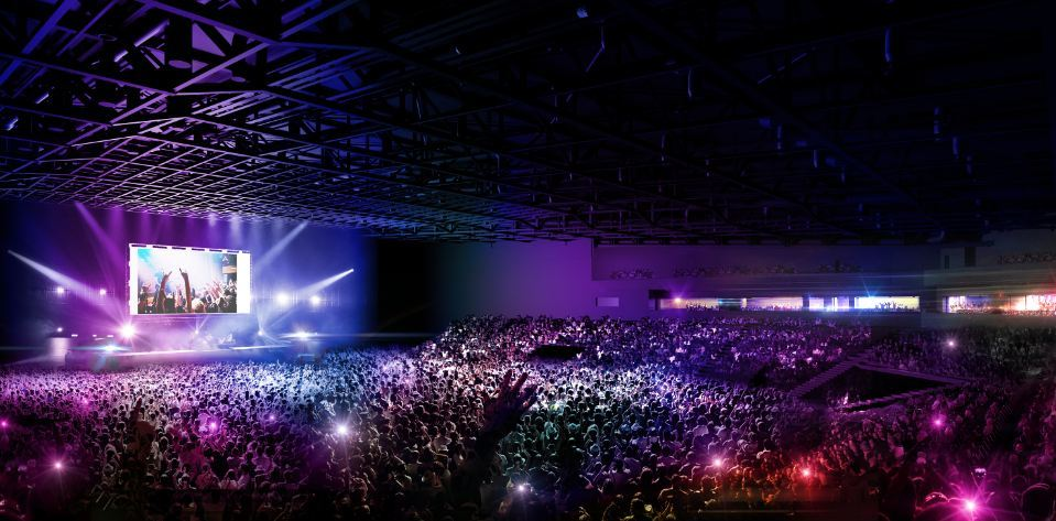 How the arena will look during a concert.