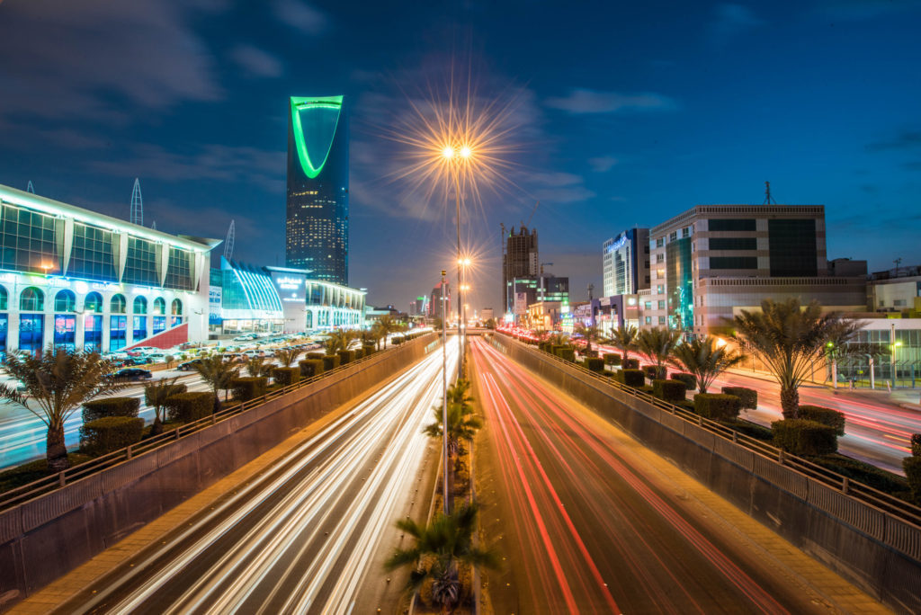 The Kingdom Tower in Riyadh. Photographer: Waseem Obaidi/Bloomberg