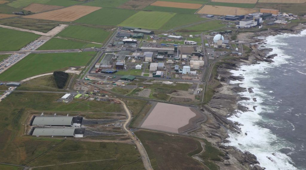 Dounreay aerial view of the site. Picture courtesy of Graham Group.