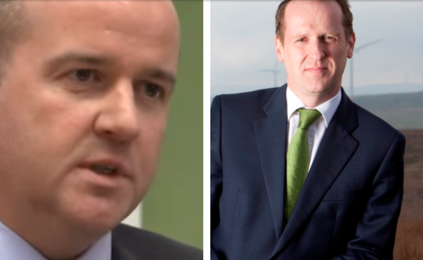 Jonathan Cole, offshore wind manager and Keith Anderson, CEO for Scottish Power.