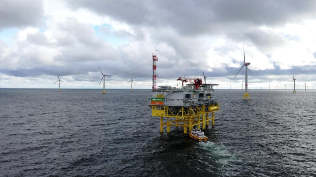 Wikinger windfarm and substation.
