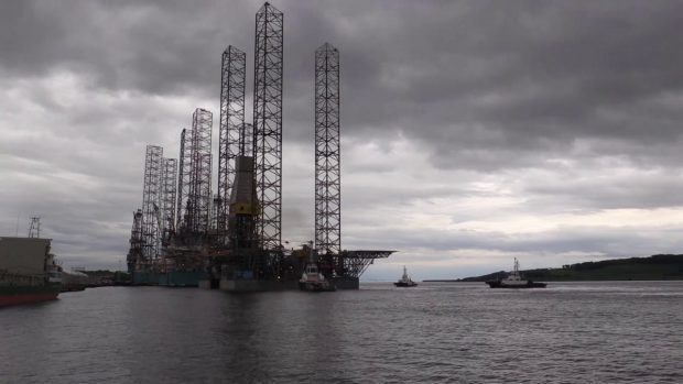 A jackup rig in Dundeee