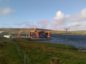 The Dunlin Alpha platform being decommissioned at Dales Voe in Shetland.