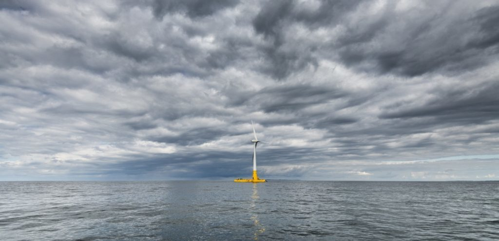 Floatgen is France's first offshore floating wind turbine.