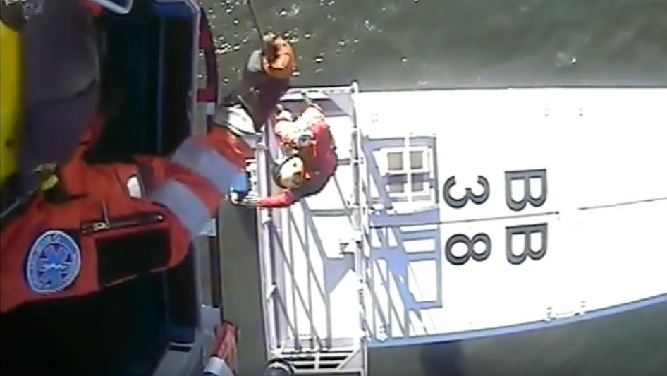 The MCA has released footage of the training exercise in the Irish Sea.