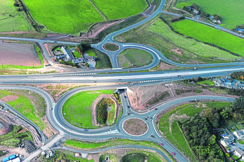Aerial photograph of the Aberdeen Western Peripheral Route / AWPR