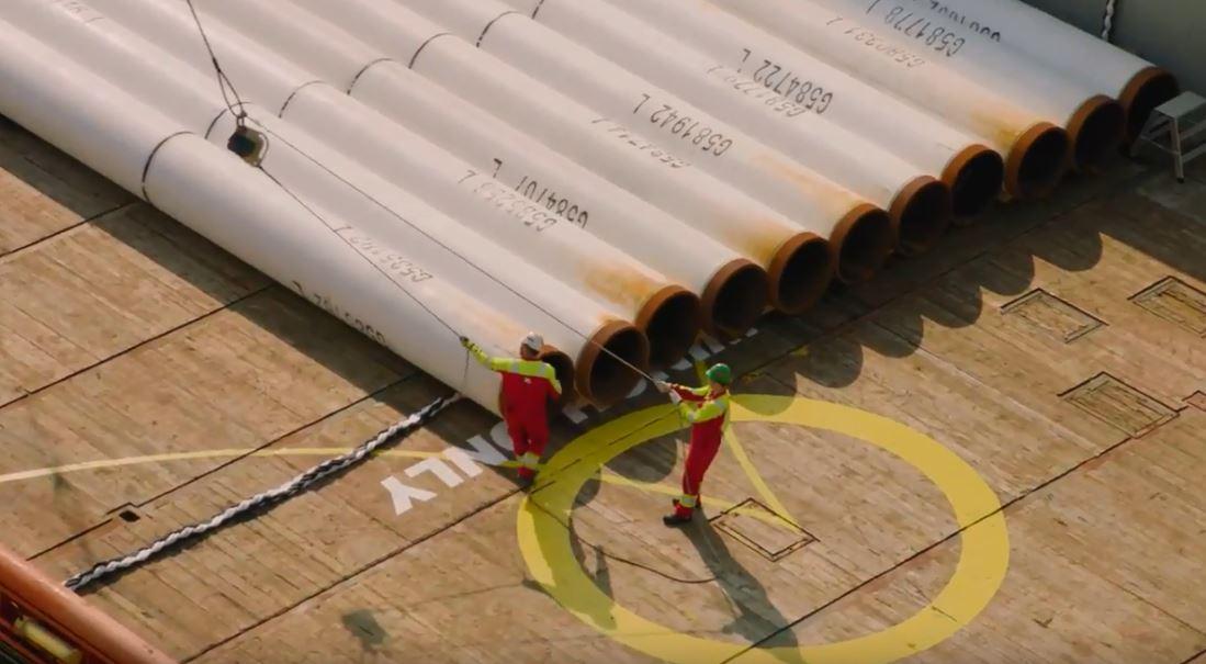 Equinor's Johan Sverdrup pipeline lay begins.