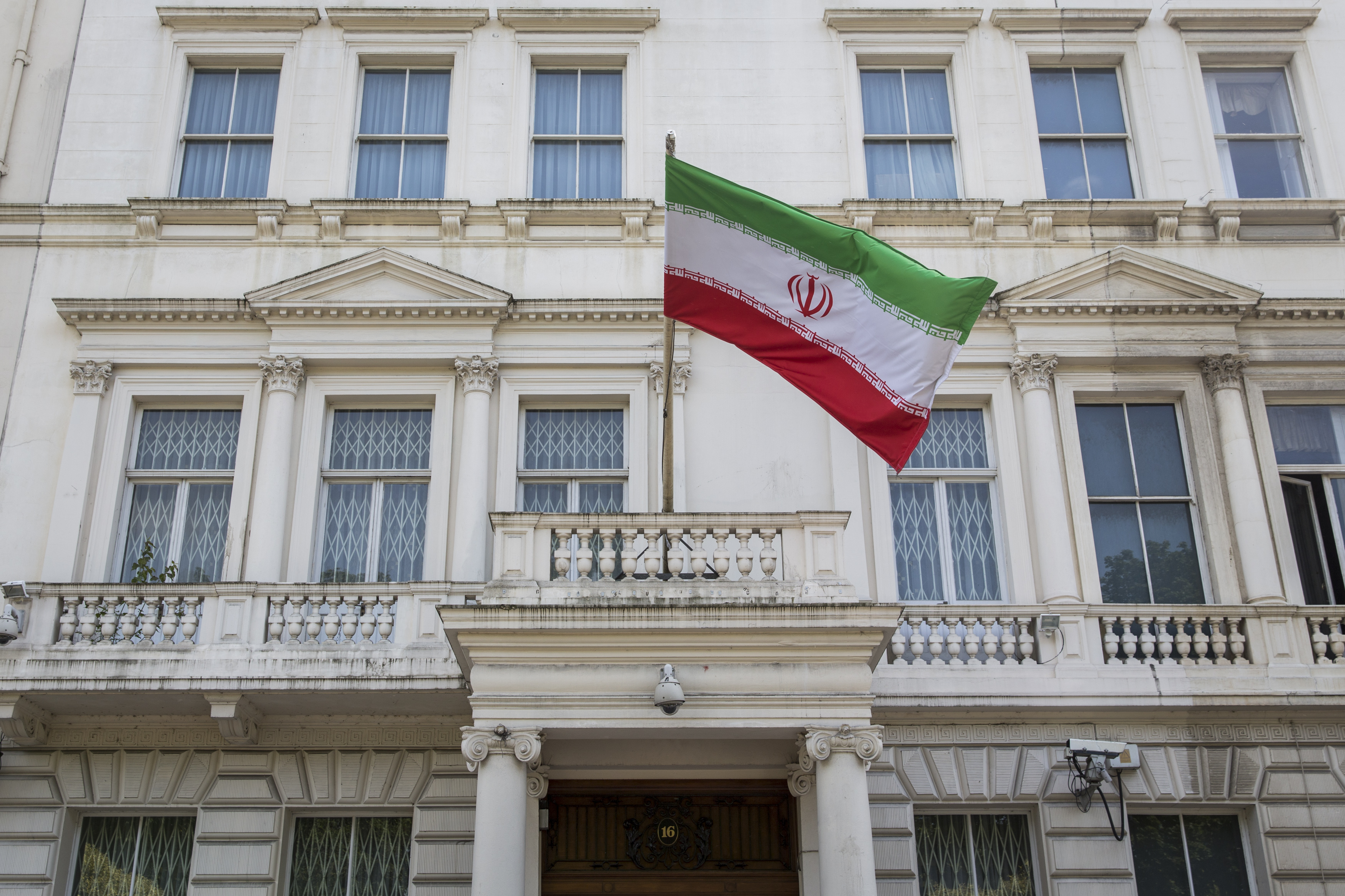 The Iranian embassy in London