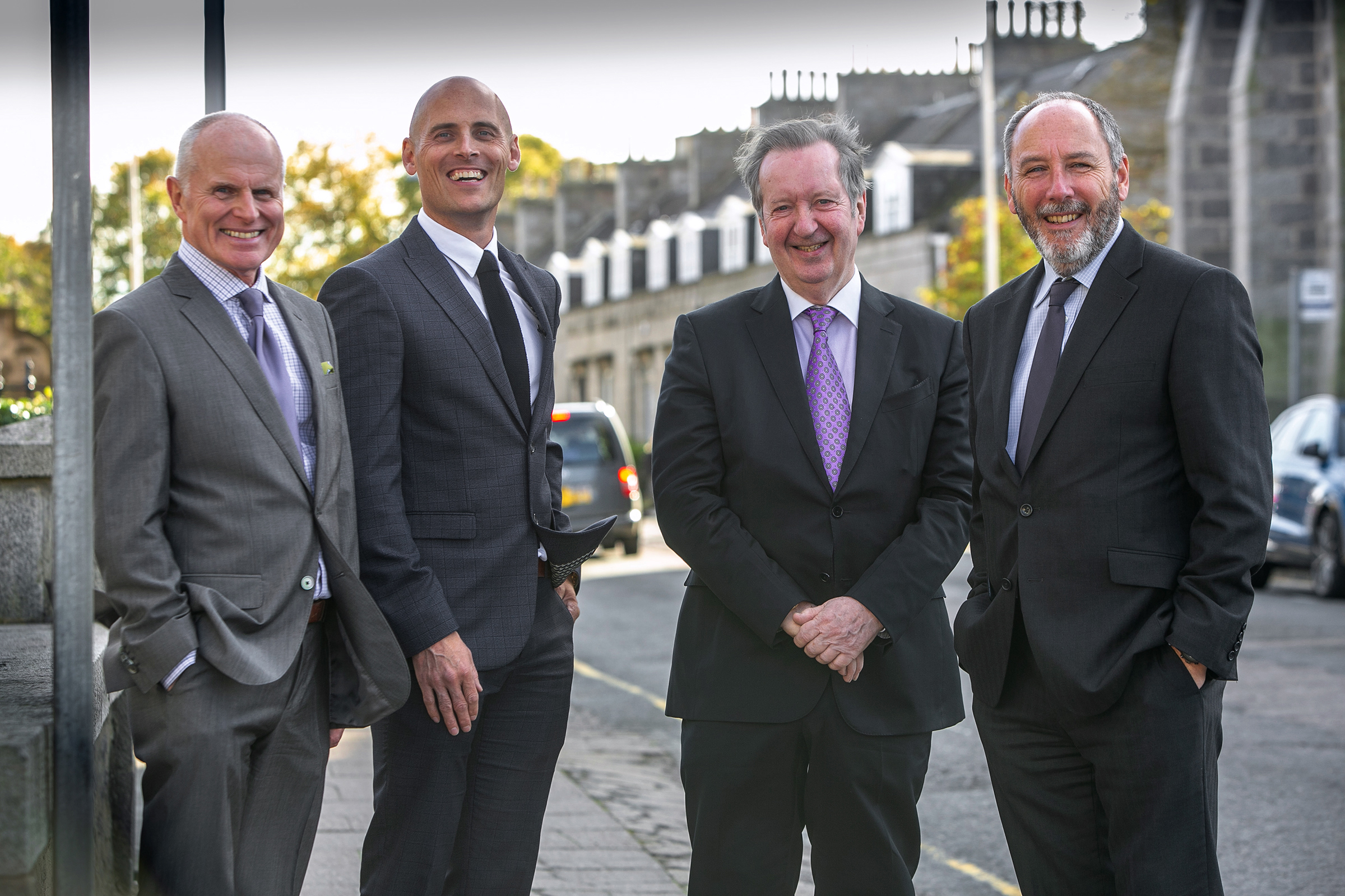 Maxwell Drummond Group's board of directors (L-R): Phil Smith, Craig Finnie, Andrew MacDonald and Andrew Burton.