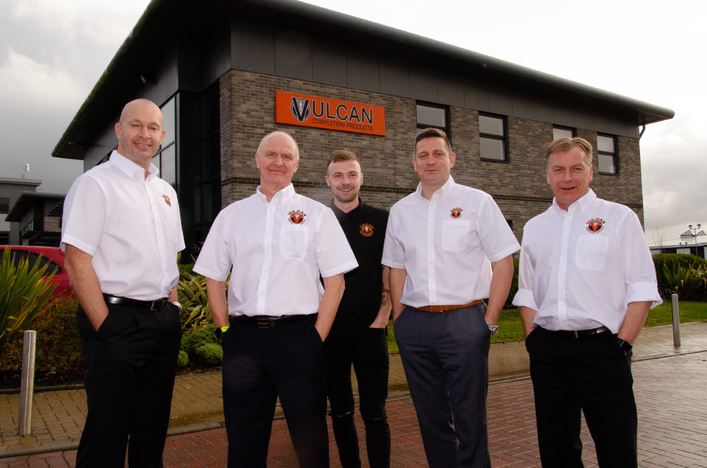 L-R, Martin Pirie, Ian Kirk, Nathan Kirk, Mark Dundee and Andy Kirk.