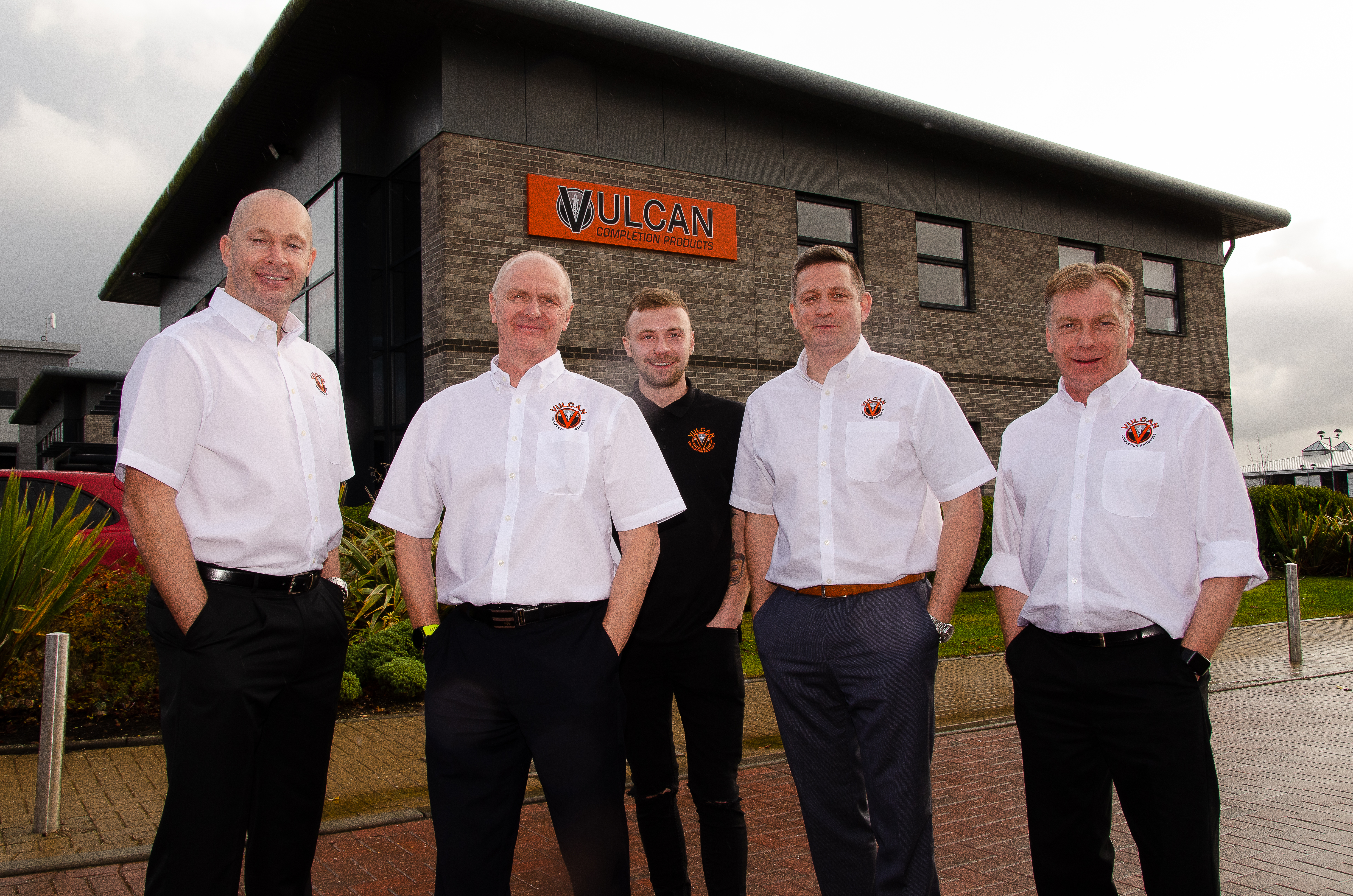 L-R, Martin Pirie, Ian Kirk, Nathan Kirk, Mark Dundee and Andy Kirk.
