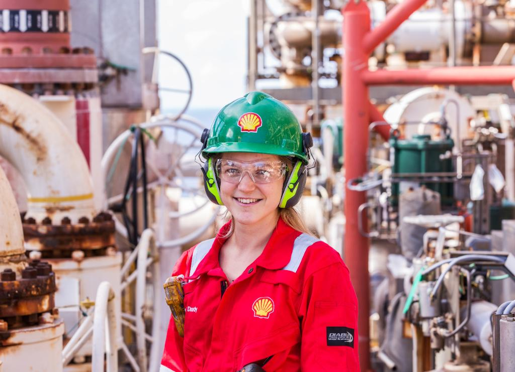 Just 3% of the UK's offshore workforce are female. Image credit: Shell