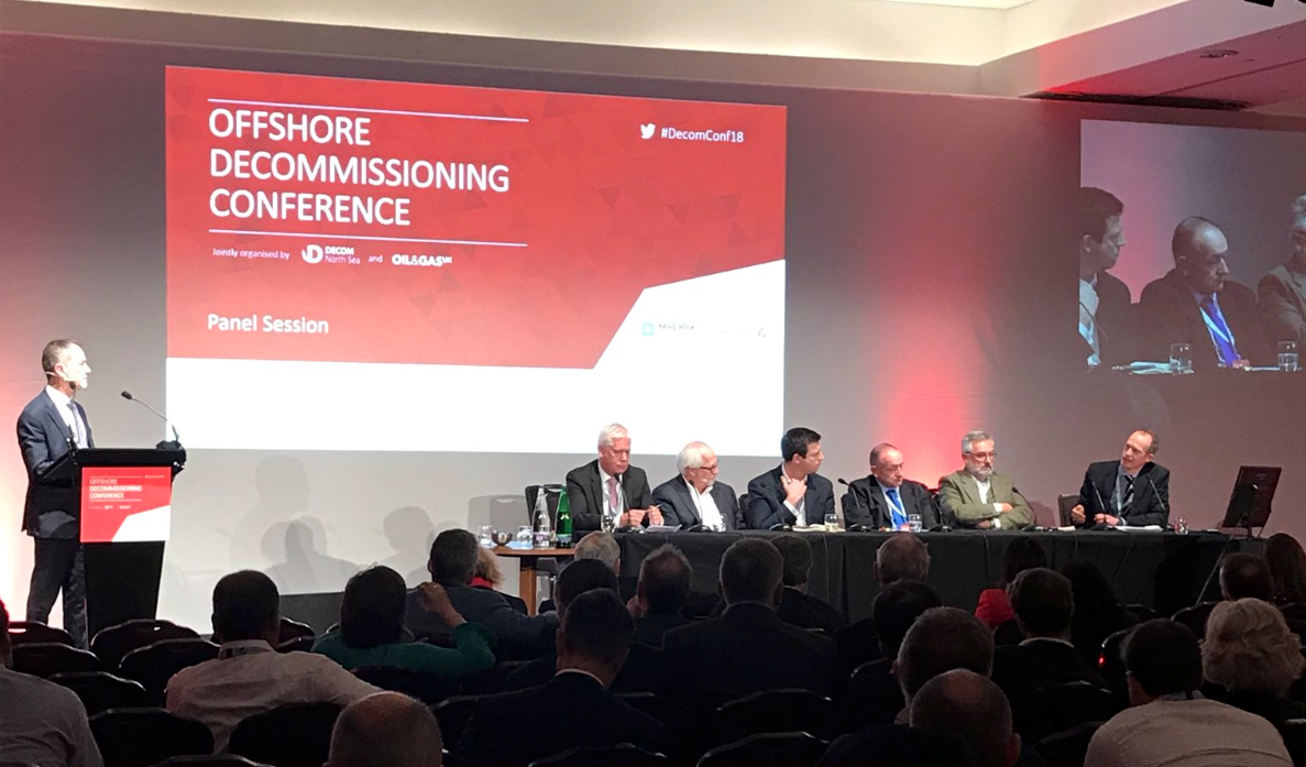 The panel session at the Offshore Decommissioning Conference.