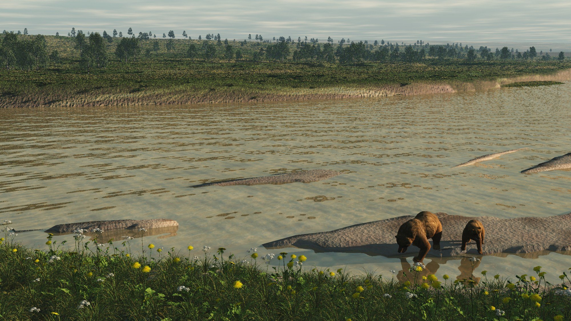 """Evidence of """"Doggerland"""" has been revealed at the Vattenfall site. A flooded land which once connected the UK to Europe"""