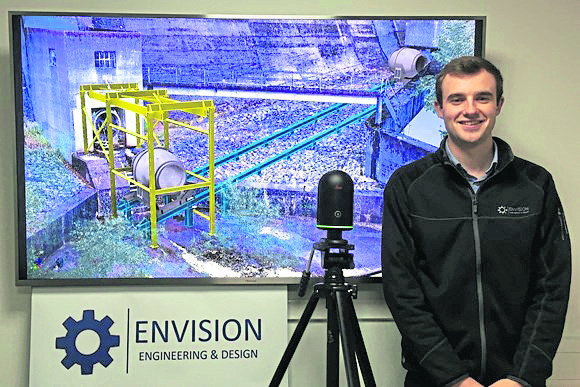 new recruit: Engineering graduate Gaius Bews has been taken on by Envision Engineering & Design as it moves to new, bigger premises