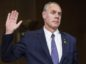 Representative Ryan Zinke, U.S. secretary of interior nominee for president-elect Donald Trump, is sworn in to a Senate Energy and Natural Resources Committee confirmation hearing in Washington.