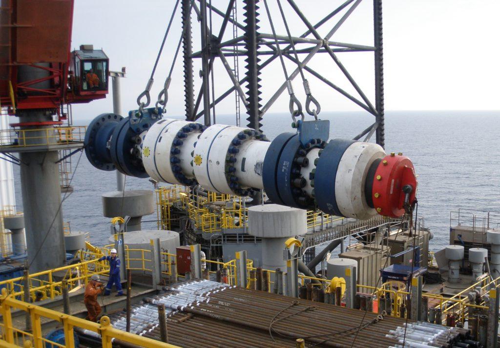 A Pos-Grip wellhead being taken offshore