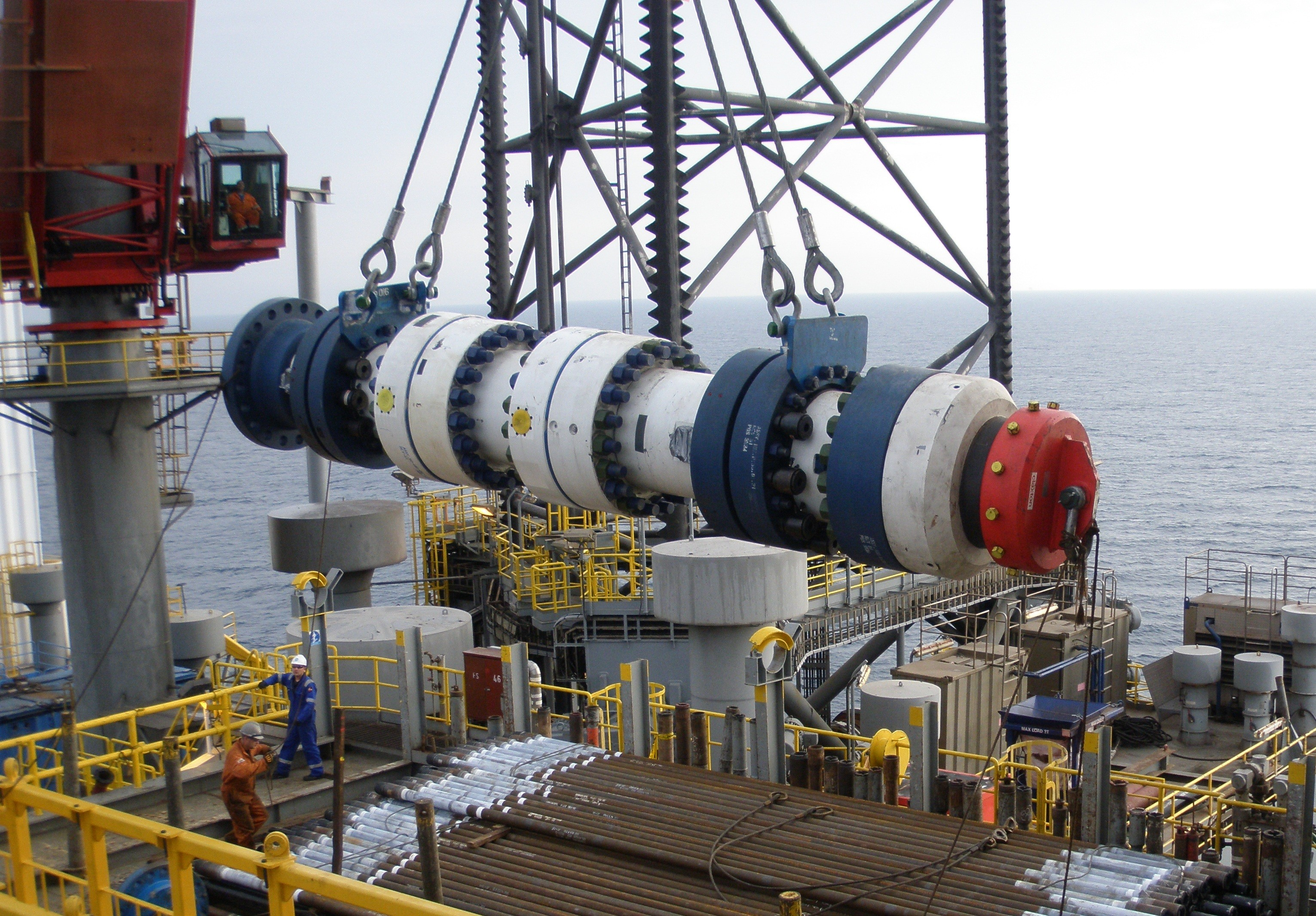 A Pos-Grip wellhead being taken offshore