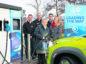 L-R Chris Ramsey, Trevor Wilson, Councillor Trish Robertson, Stephen Rennie, Ellie Grebenick  A9 Electric vehicle charger