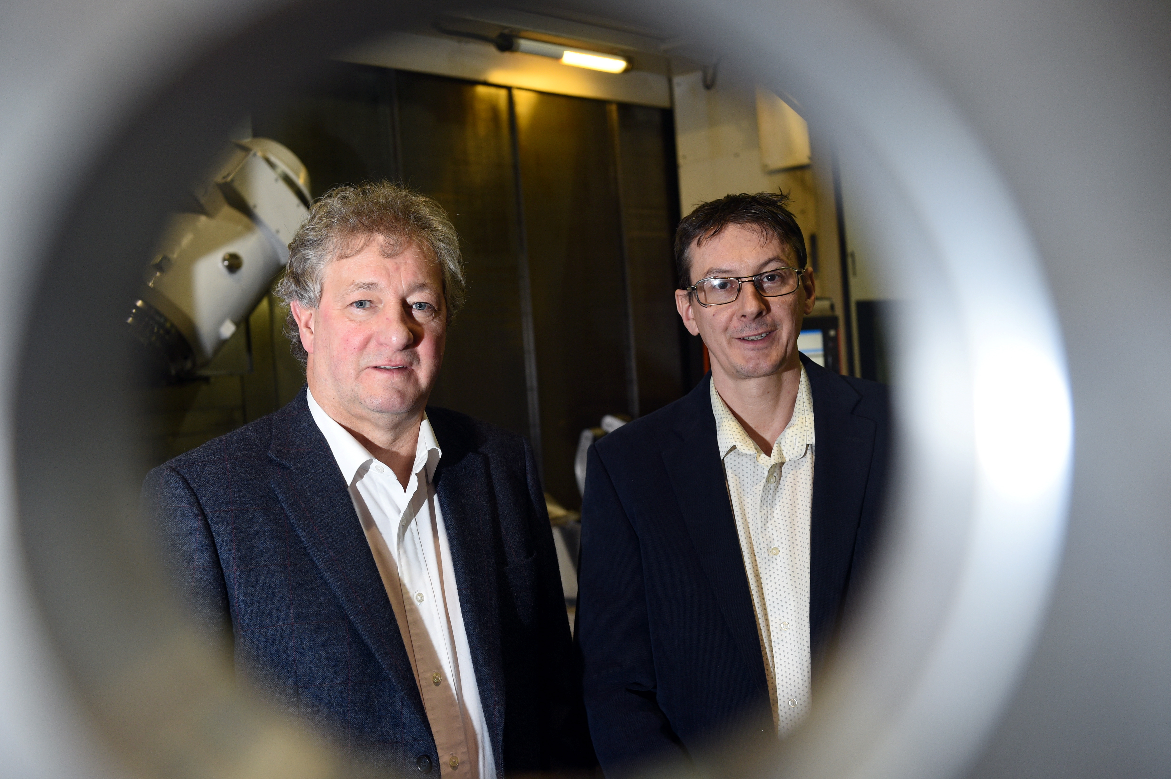 KMS founder and director Graham Truscott, left, with managing director Brian Davie.