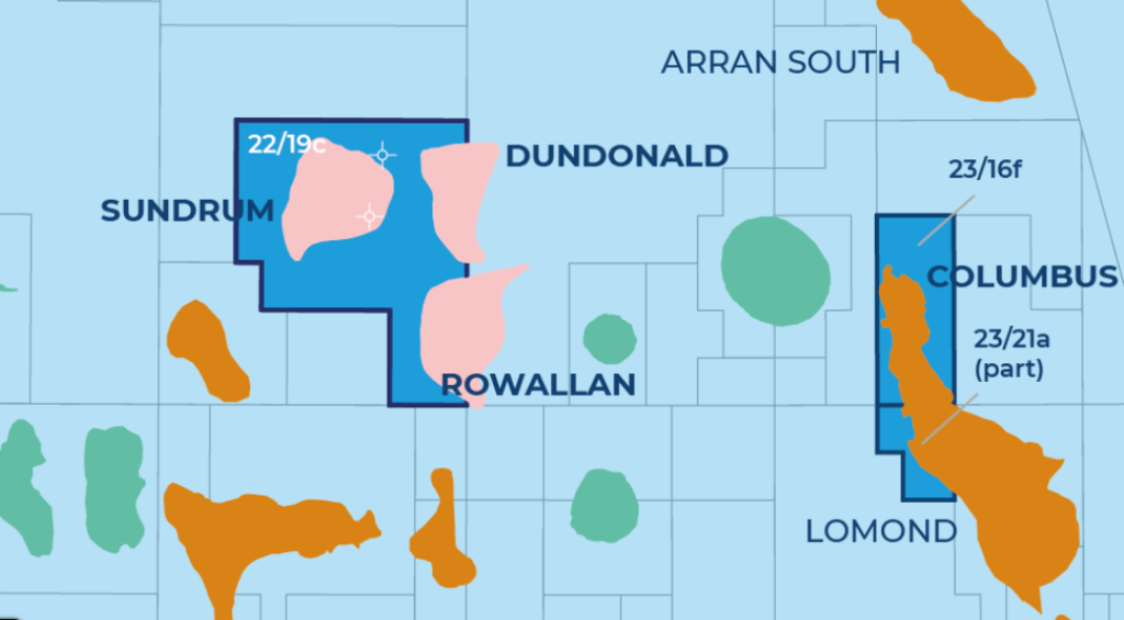 A map showing Rowallan's location