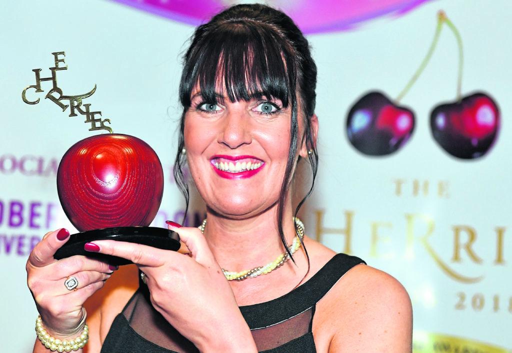 cHeRries awards at the AECC.     Winner - Fantastic HR advisor.  Pictured - Karen Buchan, Balhousie Care Group         Picture by Kami Thomson    01-06-18