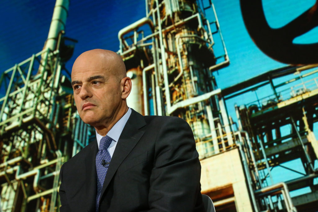 Claudio Descalzi, chief executive officer of Eni SpA,. Photographer: Christopher Goodney/Bloomberg