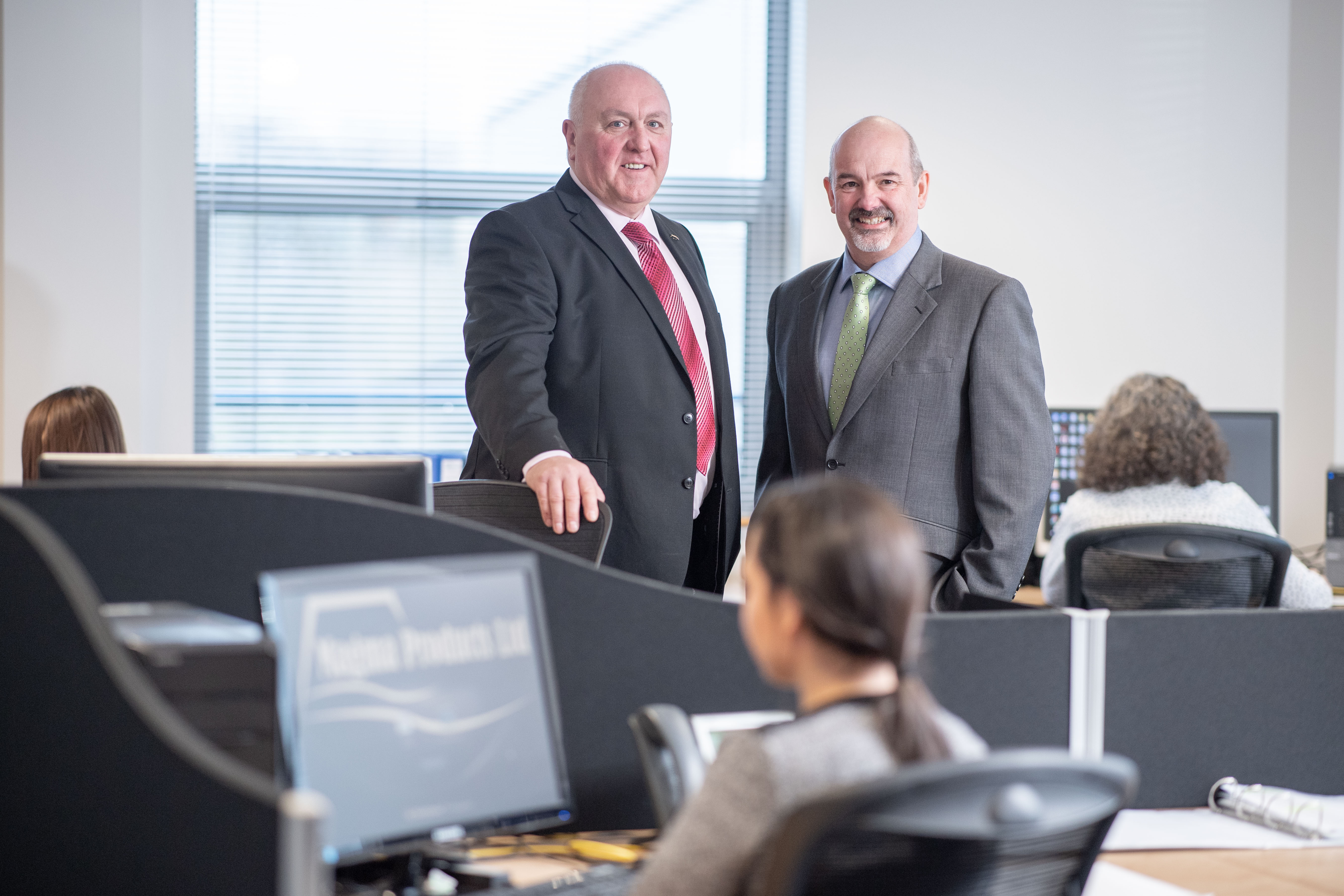 Magma Products managing director Phil Tweedy, left, and Paul Rushton, chairman of Magma Products, which has its HQ in Aberdeen.