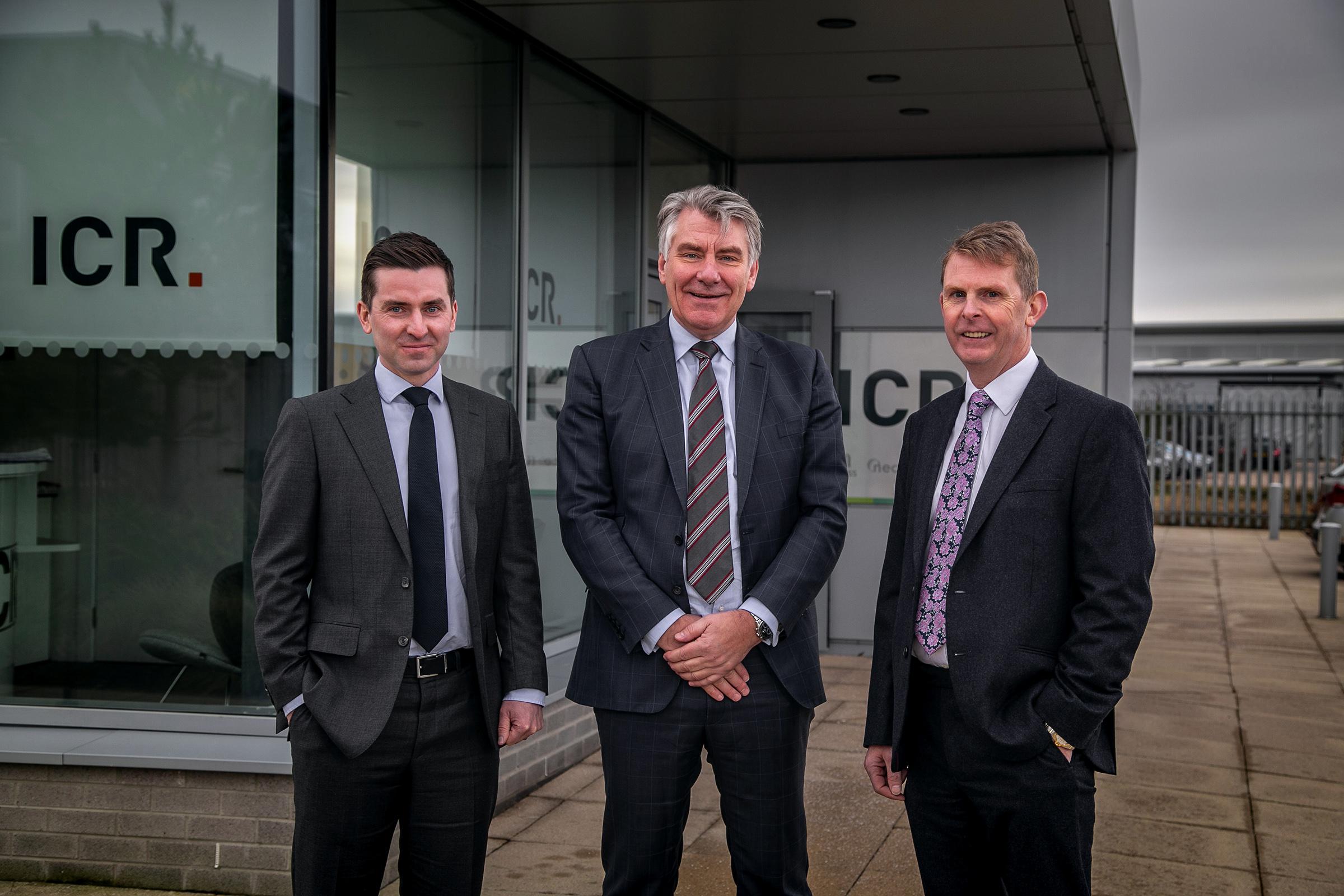 Alan McQuade, Bill Bayliss and Richard Wilson.