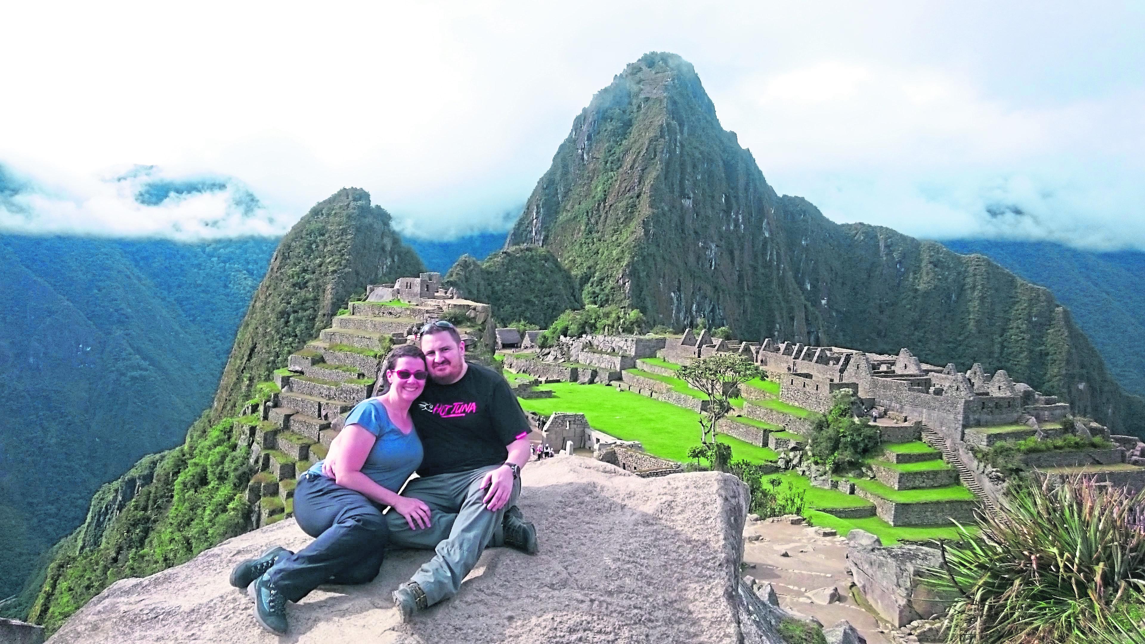 Lynne and Alex at Machu Picchu