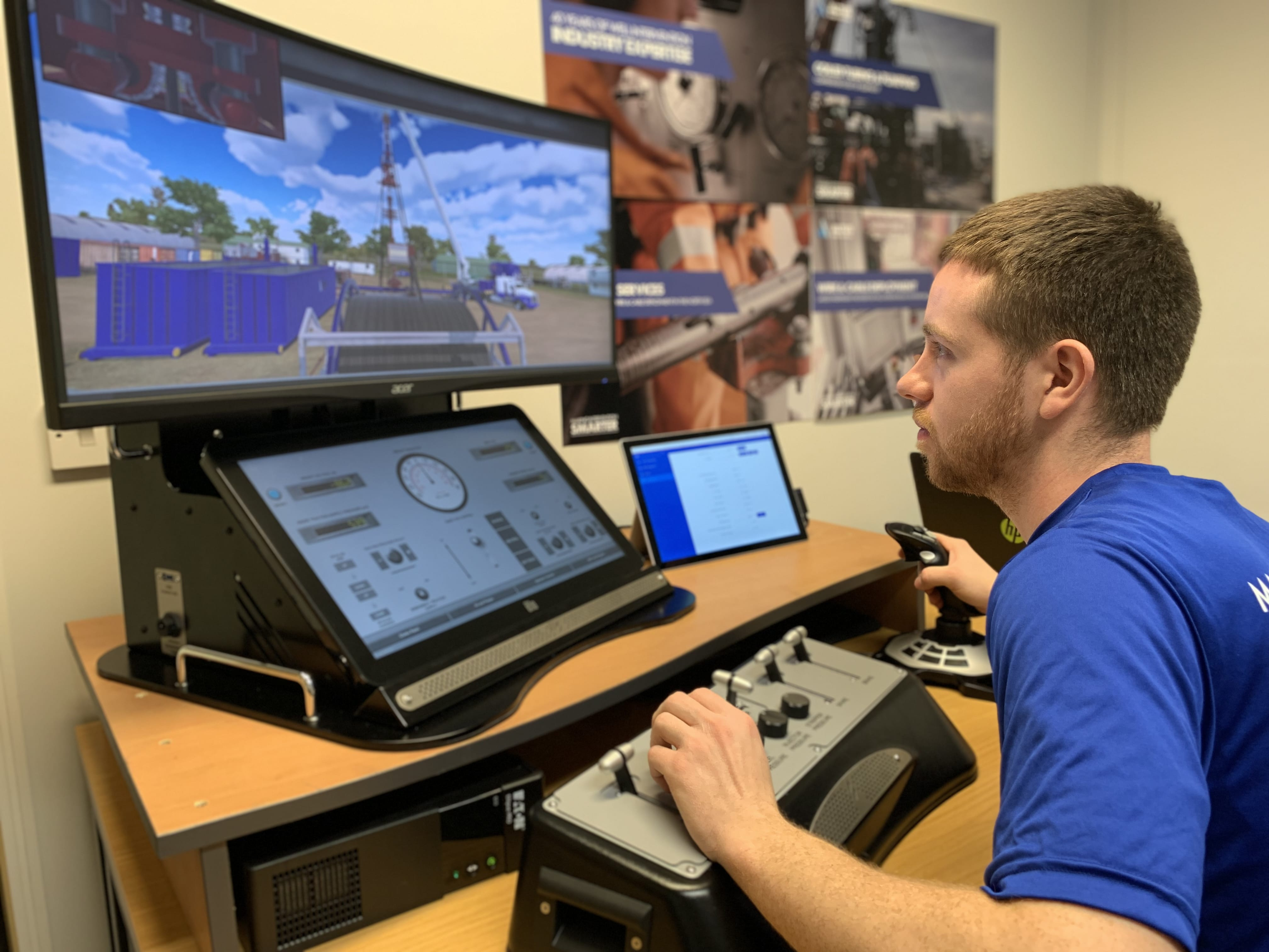 'Altus Intervention's new MultiSIM being used by an employee to practise a coiled tubing nitrogen gas lift'