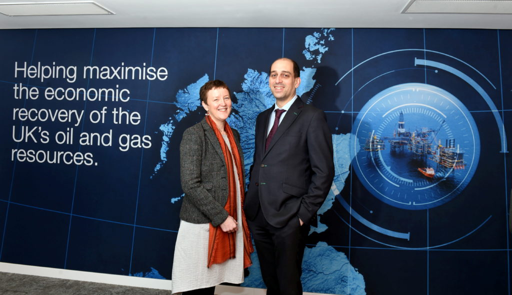 The Oil and Gas Authority's West of Shetland manager, Brenda Wyllie and Nick Richardson, Head of Exploration and New Ventures.
