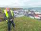 Scrabster Scrabster Harbour manager Sandy Mackie on a hillside overlooking the port.  Photo: Robert MacDonald/Northern Studios. 14 January 2019