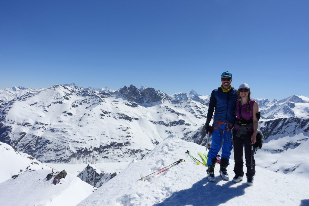 Hazel and Luke Robertson at the top of Rosa Blanche