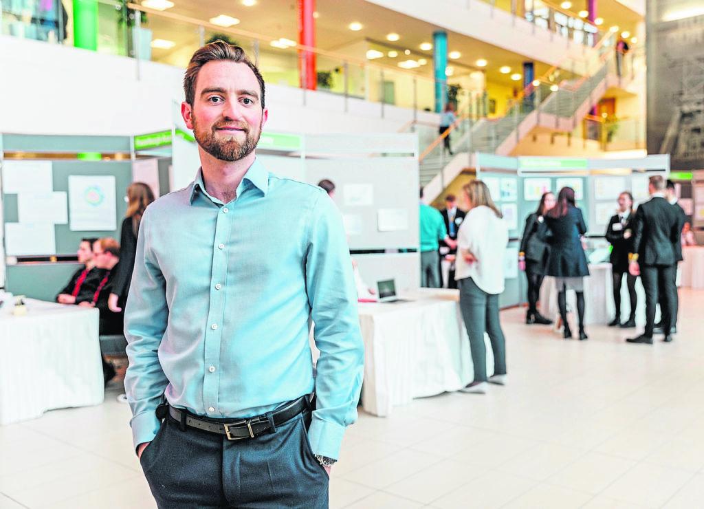 Greg Stewart at BP North Sea HQ in Aberdeen.