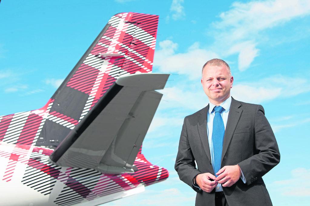 Loganair managing director Jonathan Hinkles