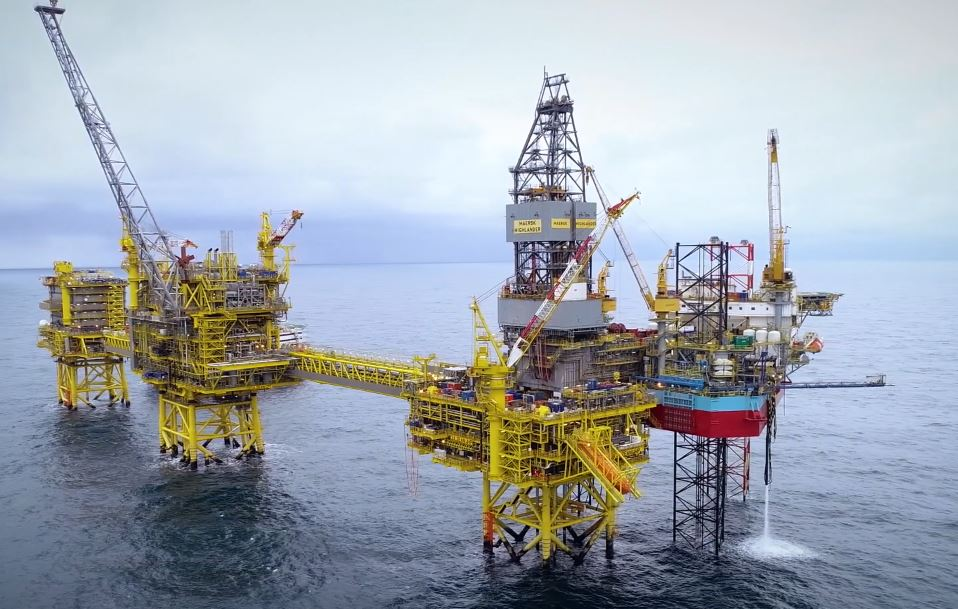 There is a suspected coronavirus case on the Maersk Highlander rig, pictured right, which is connected to the Culzean platform